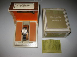 Vintage Bulova Caravelle N2 Transistorized Watch Stainless Steel Silver NICE - $118.79