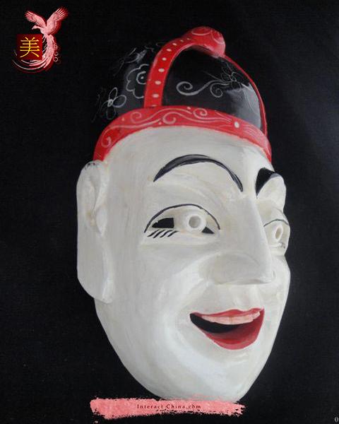 Chinese Home Wall Décor Ritual Dance Mask 100% Wood Craft Folk Art #117 Pro