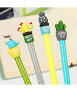 XUES® Cute Potted Cactus Gel Pen Student Writing Signing Pen Kids School... - $1.79