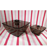 Fabulous Vintage MoD Space Age 4pc Smokey Lucite Chip and Dip Serving Se... - $24.00