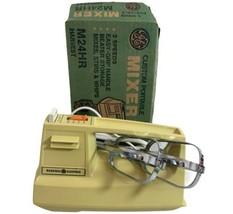 Vintage GE Custom Portable Mixer M24HR Harvest with box MCM Excellent  - $19.39