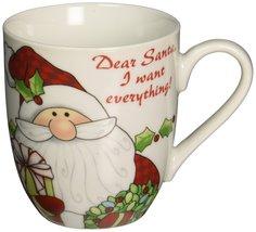 Santa's Big Day Holiday Mug, Dear Santa, I Want... - $17.48