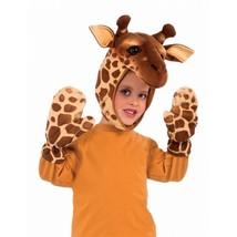 Forum Giraffe Hood & Mitt Set Child Halloween Costume Accessory Standard 72290 - $10.29