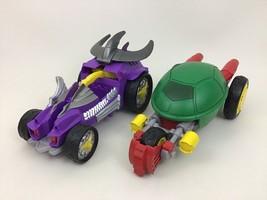 Shredder Car Stealth Bike Teenage Mutant Ninja Turtles Lot TMNT Playmate... - $22.23