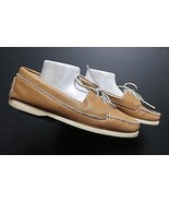 Men's Sioux Mox USA Made Brown Leather Casual Boat Shoe Loafer Sz. 9D MINTY - $21.90