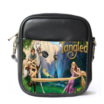 Sling Bag Leather Shoulder Bag Tangled Kingdoms Fairy Tale Rapunzel Disn... - $14.00