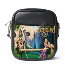 Sling Bag Leather Shoulder Bag Tangled Kingdoms Fairy Tale Rapunzel Disney Carto - $14.00
