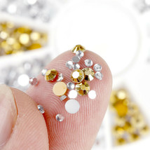 NailPreety® 1 Wheel Golden Silver AB Diamond Nail Rhinestone DIY Manicur... - $3.47