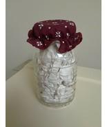 LONGABERGER Blue Ribbon ONE 1 QT Canning Jar & I Traditional Red Bonnet - $18.76
