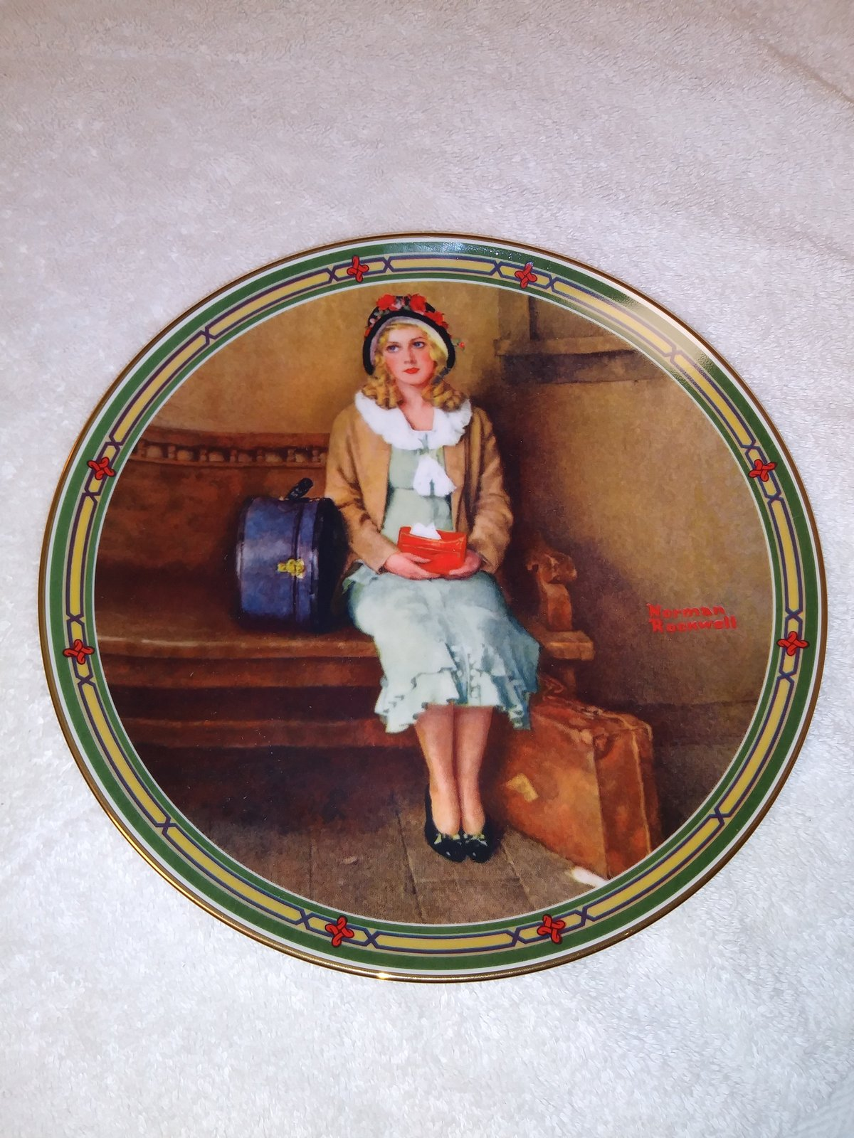 A Young Girl's Dream  Edwin M Knowles by Norman Rockwell 1985 Plate