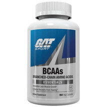 GAT BCAA 180 CAPSULES PREMIUM BRANCHED-CHAIN AMINO ACIDS BUILD MUSCLE & ... - $16.78