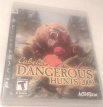 CABELLAS DANGEROUS HUNTS 2009 PS3 SONY PLAYSTATION VIDEO GAME    - $7.25