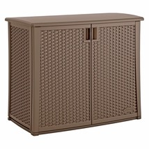Outdoor Storage Cabinet Patio Garden Shed Garage Tool Utility Box Deck W... - $187.01