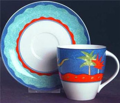 1995 Christopher Stuart Optima Barbados Collectible Cup & Saucer China Set - $19.99