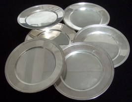 "vintage kitchen 6"" round SILVERPLATE dish plate... - $18.30"