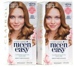 (2) Clairol Nice n Easy Natural Looking 6.5GN Lighter Golden Brown Hair ... - $21.77
