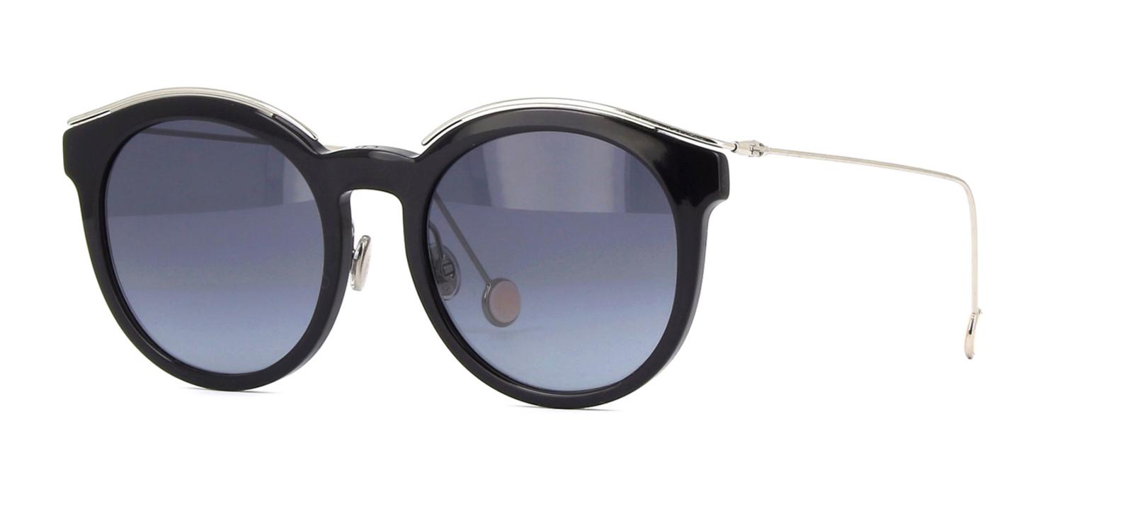 Womens Diorblossom Hd Sunglasses, Black Pallad, 52 Dior