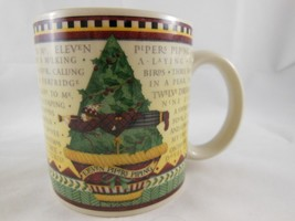 Debbie Mumm 12 Days of Christmas Day 11 Eleven Pipers Piping Art Cup Mug Sakura - $9.89