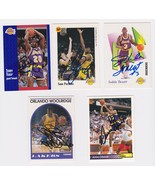 Los Angeles Lakers Signed Autographes Lot of (5) Trading Cards - Perkins... - $14.99