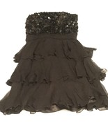 Scala Black Shift Dress Size 6 Scales with Ruffles - $65.55
