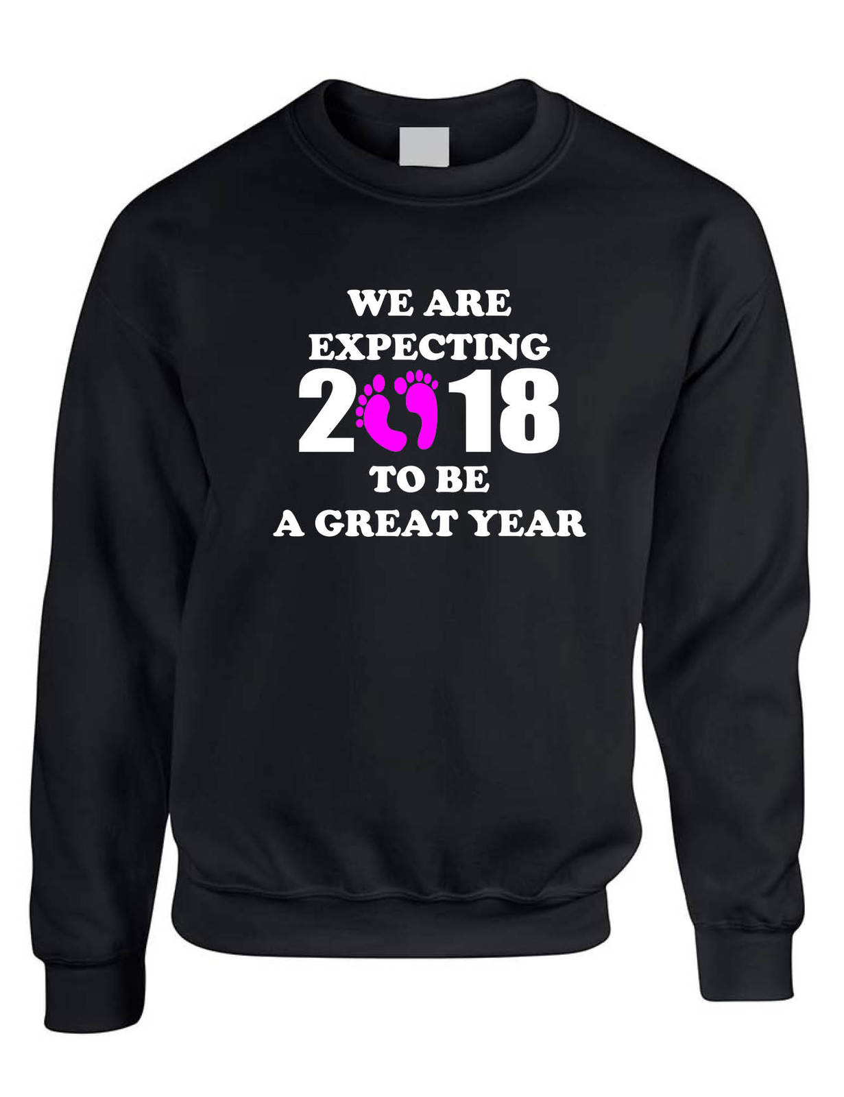 Primary image for Adult Sweatshirt We Are Expecting Girl Maternity Reveal 2018 To Be