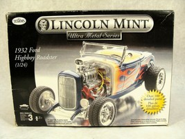 TESTORS LINCOLN MINT 1932 HIGHBOY ROADSTER HOT ROD METAL CAR MODEL KIT NEW! - $59.39