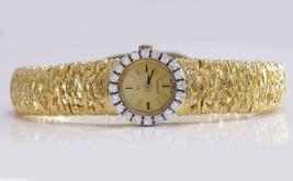 Antico Raro Omega 18K Solido Oro Giallo VS1 Diamante Orologio da Donna 38.3g - $4,126.90