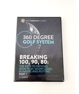 360 Degree Golf System DVD Breaking 100, 90, 80: - Part 1 Driving, Short... - $20.56