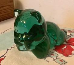 Vtg Fenton Green glass Blown Bear - $25.00