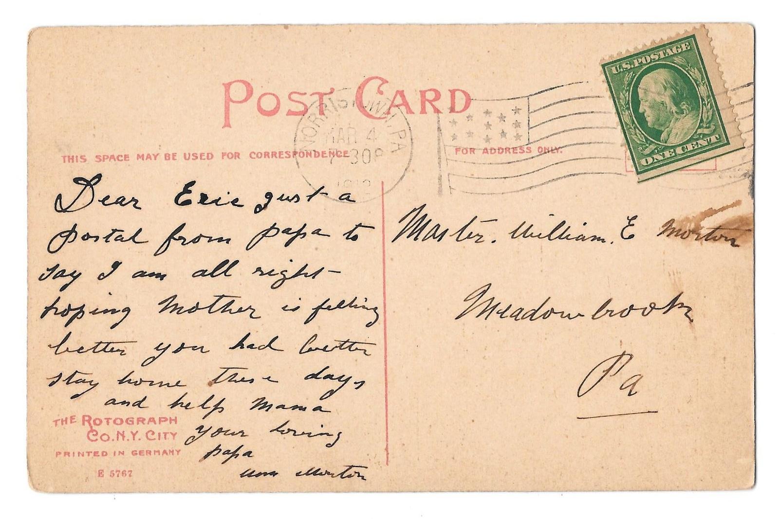 PA Norristown Court House Pennsylvania Vintage 1942 Rotograph Postcard