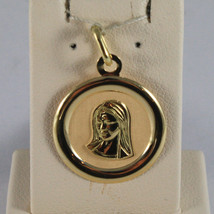 SOLID 18K YELLOW GOLD MEDAL PENDANT,VIRGIN MARY MADONNA, LENGTH 1,06 IN - $135.00