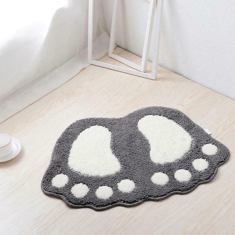 Bath Mats Water Absorption Mini Carpet Foot Print Non Slip Toilet Microfiber Pad image 11