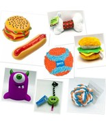 Dog Toys Pets All Sizes Types Fetch Squeaker Chew Teething Sports Ball  - $6.92+