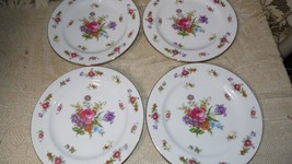 VINTAGE 40'S FLORAL DESIGN DRESDANIA BY SANGO OCCUPIED JAPAN DINNER PLAT... - $24.70