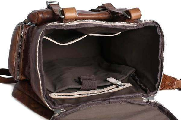 Sale, Vintage Handmade Leather Backpack, Men's Leather Backpack, Travel Backpack image 3