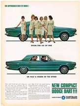 Vintage 1963 Magazine Ad Dodge Dart Compact With Room For Six With Compact Price - $5.93