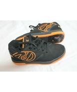 Heelys SIZE 7 Wheeled Shoes Sneaker Black ORANGE Adult Size Skate Wheels - $59.40