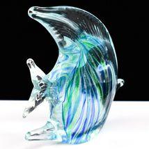 Dynasty Gallery Handmade Blue & Green Fish Glow in the Dark Art Glass Figurine image 4