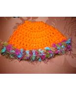 "HANDMADE CROCHET for BARBIE ""Orange Fun"" PONCHO & DRESS w/ ACCESSORIES &... - $12.95"