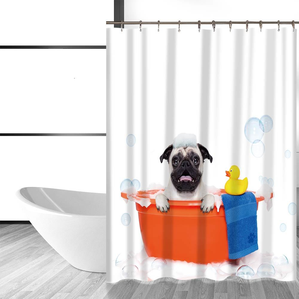Primary image for Miracille Cute Dog and Cat Printing Bathroom Decorative Shower Curtain Waterproo