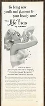 1954 Formfit Life Bras PRINT AD Bring New Youth and Glamour to Your Beau... - $10.69