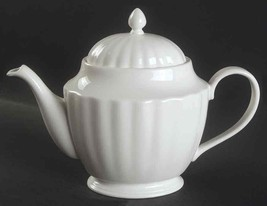 "New With Label Teapot & Lid Basics White By Lenox 6 Cup 6"" - $89.09"