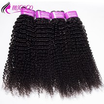Mscoco Hair Brazilian Kinky Curly Hair 4 Bundles Weaves 100% Human Hair Extensio - $377.50