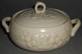 Metlox ANTIQUE GRAPE PATTERN 1 QT Covered Vegetable MADE IN CALIFORNIA - $49.49