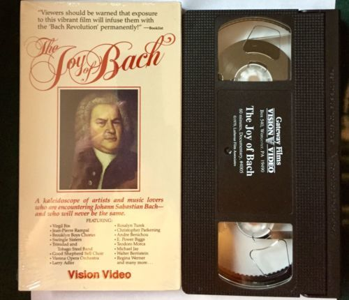 The Joy of Bach VHS Tape Brian Blessed