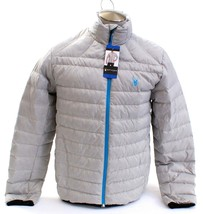 Spyder Prymo Down Jacket Cirrus Gray Zip Front Down Filled Puffer Jacket... - $149.99