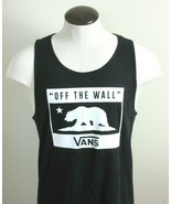 Vans Mens Stoic Bear Off The Wall Tank Top Classic Black White Small Med... - $29.99