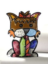 Romero Britto Mini Terrier Dog 3 Dimensional Precious Figurine #331385