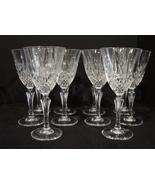 Cristal de Flandre Set of 10 Crystal Wine Glasses Salzburg Pattern  7.5 ... - $48.99