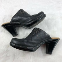 Sofft Women's Leather Slip On Clogs Studded Black Size 8M 1031801 - $48.22
